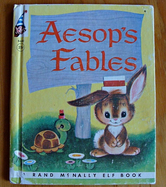 RESERVED PATRICIA 1952 Aesop's Fables A Rand McNally Elf Book