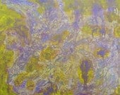 "Abstract Painting ""Purple Coral"" - Original Art from Ease the Soul Artworks by Jackson P"