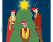 Xmas Lannisters: Cersei, Jamie, and Tyrion in an Awkward Family Photo Christmas Card