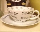 Vintage Gypsy  Fortune Telling Tea Cup 1959 Bradley Japan