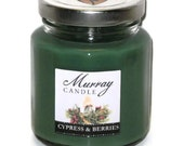 Cypress & Berries All-Natural Scented Soy Candle - 6 oz