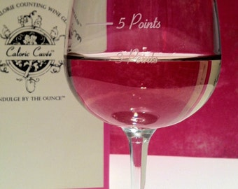 The Points Glass from Caloric Cuvee - Uses Weight Watchers PointsPlus and SmartPoints - Weight Loss - Portion Control