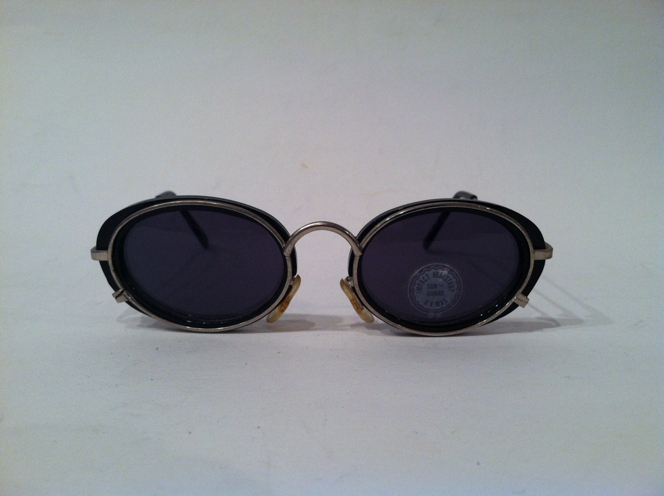 Wire Frame Cat Eye Glasses : 1990s DEADSTOCK Steampunk Cat Eye Wire Frame by EatDiamonds