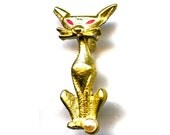 Pair of Vintage Cat Scatter Pins