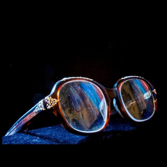 Rhinestone Eyeglasses Made in British Hong Kong
