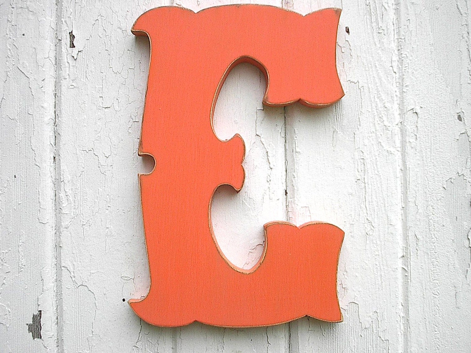 Wooden Letters Decorative Letter E 18 Inch Kids Wall Art