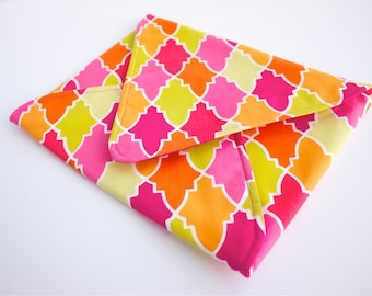 iPad Envelope Sleeve in Bright Citrus Shades