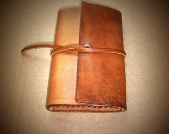 Handmade Leather 6 Key Ring key Case, in Antique Brown with  wrap around closure. Inspired by Old Vintage Key Case...