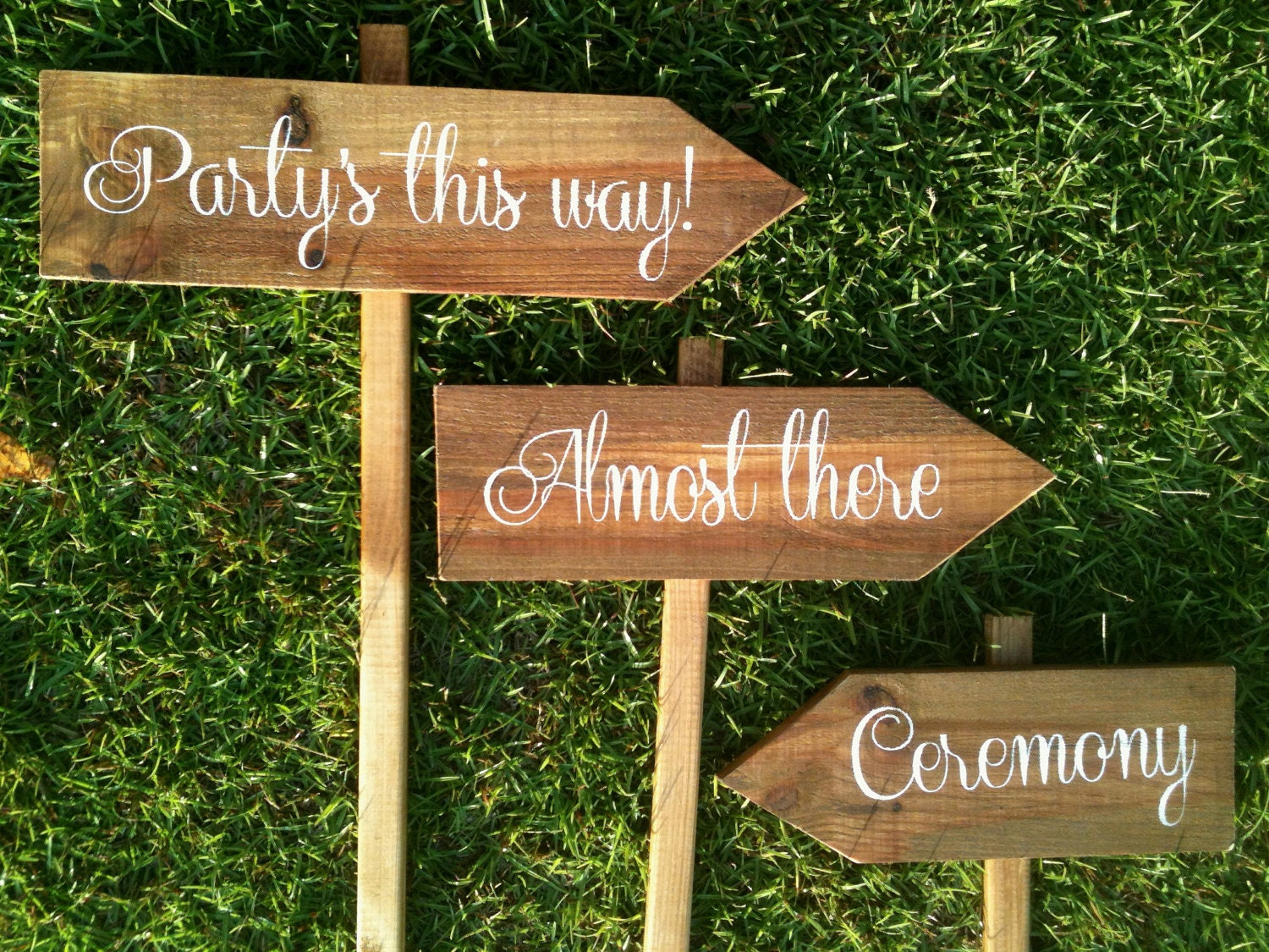 WEDDING SIGNS Wooden Wedding Signs Ceremony Sign Reception