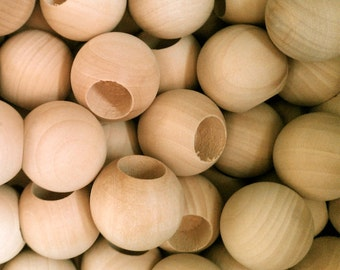 10 Wood Dowel Caps - Doll Heads - Kids Wood Craft Supplies