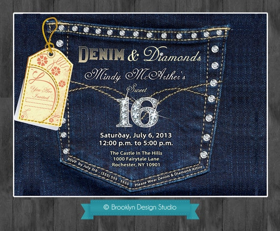 Denim and Diamonds Denim Pocket with Bling by ...
