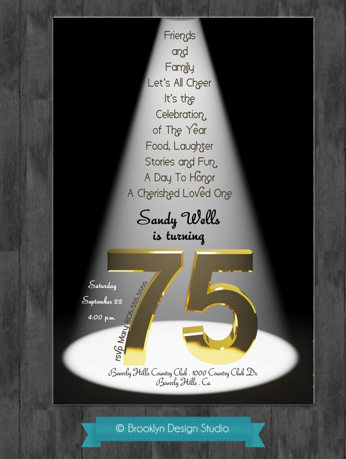 75th birthday bash custom designed by brooklyndesignstudio for 75th birthday party decoration ideas
