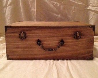 Wood Stained Box-Suitcase (large)