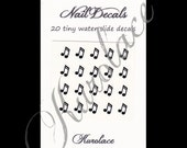 20 Nail Decals - Music Notes - Discount on 3 Sets