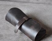 Handmade Vintage Leather Glasses Case -sunglasses cover-eyewear holder