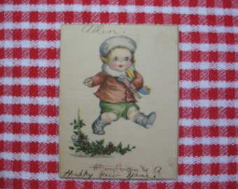 1919-1920 Collectible Ruth Welch Siver Christmas Card