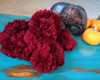 Hand-Knit Italian Ruffle Scarf
