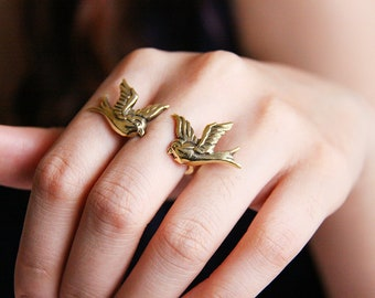 Golden Swallow Ring