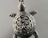 Sea Turtle 3D Charms Vintage silver Ocean Charms - 1 piece
