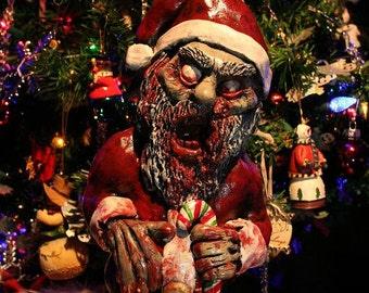 Zombie Santa Corpse - Zombie Christmas Ornament / Decoration