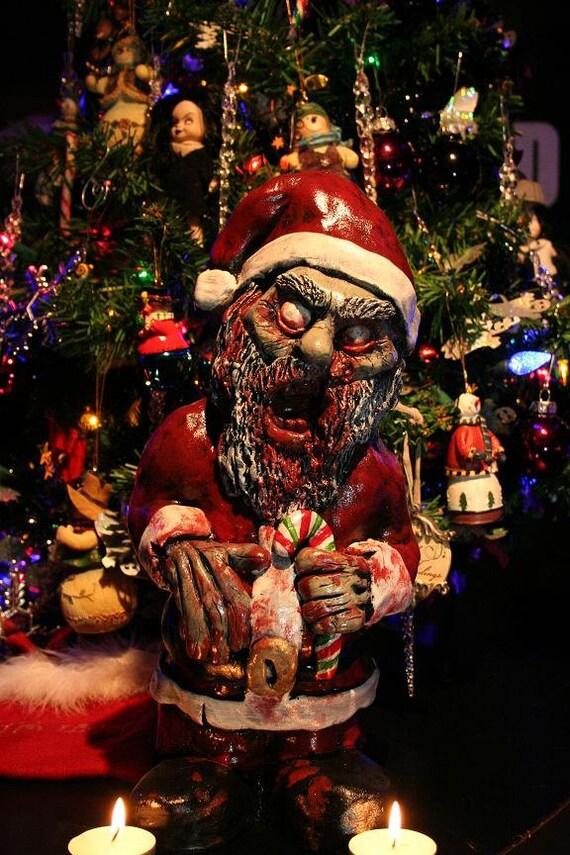 Zombie santa corpse zombie christmas ornament decoration for Decoration zombie