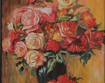 Replica of Renoir's Bouquet of Roses