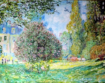 Replica of Monet's Park Monceau, Paris - 100% hand painted oil on canvas