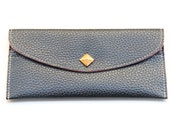 Black Leather wallet with golden pyramid