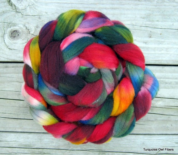 KALEIDOSCOPE - 4oz. Kettle Dyed Merino Roving