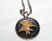 Starfish Dome Necklace Mommy and Baby Nautical Jewelry 1 inch Pendant