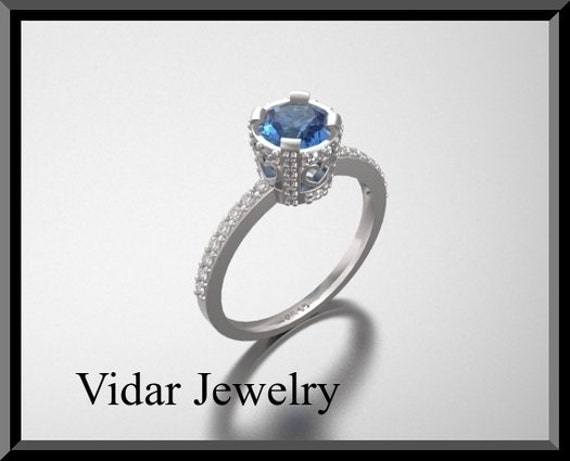 Unique Engagement Ring,Diamond Engagement Ring,Blue Engagement Ring,Blue Sapphire Engagement Ring,Unique Engagement Ring,Bridal Wedding.