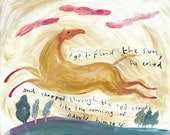 I Go To Find The Sun. Open edition Giclee print by Tracie Grimwood.