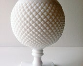 She's A Stunner...Westmoreland English Hobnail Milk Glass Ivy Ball
