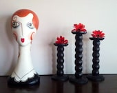 Handmade upcycled Candlesticks/ candle holders