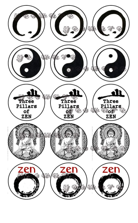 Zen Buddhism Symbol Zen buddhism signs symbols yin yang black and ...