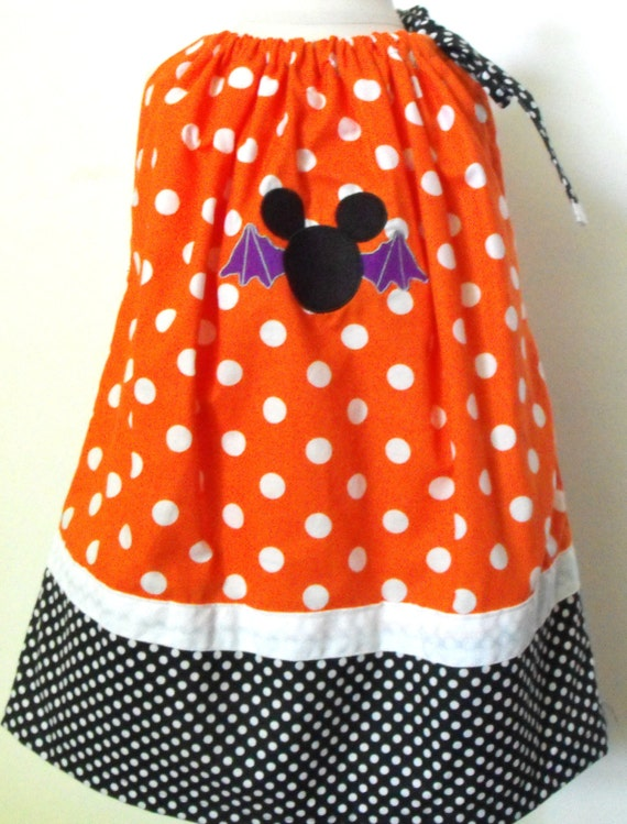 Girls Mickey Mouse Inspired Pillowcase Dress, girls Halloween dress, girls Halloween Mickey Mouse dress, Pillowcase dress, holiday dress