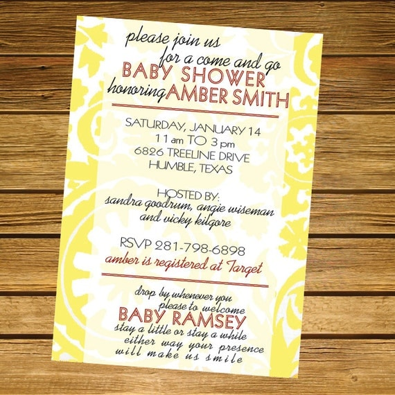 Items similar to Come and Go Baby Shower Invitation on Etsy