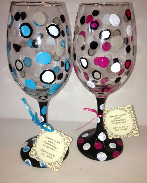 Unavailable listing on etsy - Funky champagne flutes ...