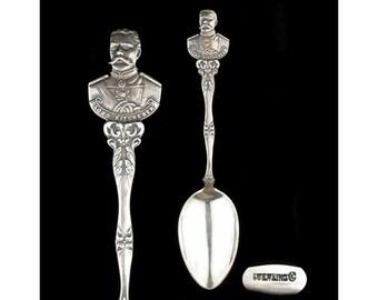 Vintage Sterling Silver Figural Lord Kitchener Souvenir Spoon