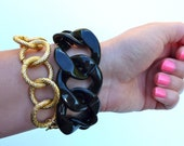 Large Black Chain Bracelet