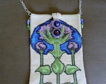 Art Deco Bead Crochet Thistle Bag Tutorial