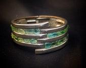 Metal-Sea Glass interlaced bracelet