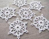 Crochet snowflakes Christmas home decors Christmas ornaments Wedding decors appliques
