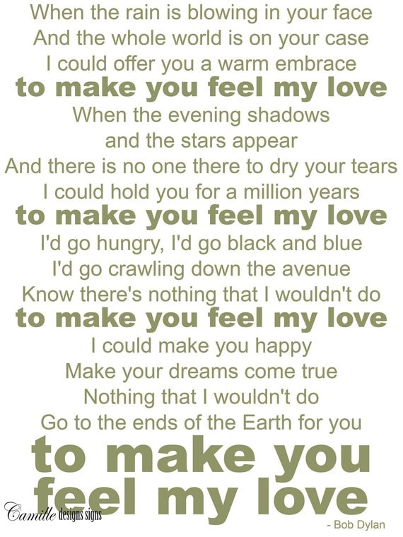 Vinyl Letters Wall Decal Make You Feel My By