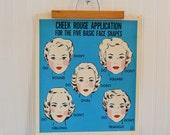 Vintage Make Up Poster Print - Retro Cosmetic Wall Art Holiday Magic