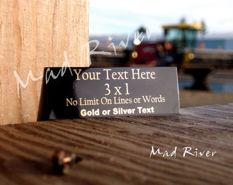 3 x 1 Personalized Laser Engraved Name Plates