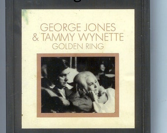 George Jones and Tammy Wynette GOLDEN RING RARE 8 Track Tape