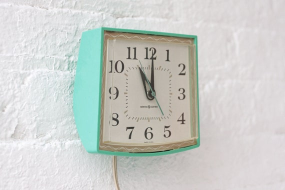 Electric Teal Wall Clock