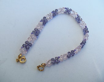Pink and purple crystal bracelet
