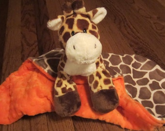 Animal Security Blanket, Cuddle Giraffe Security Blanket. This cute little giraffe would love to be loved by your baby.